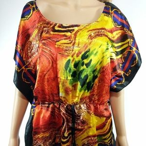 Allison Brittney NWT Size Large Blouse Cinched Top